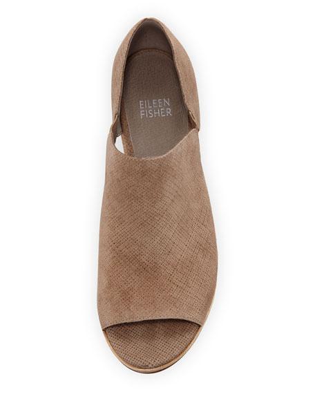 Milton Open-Toe Block-Heel Booties