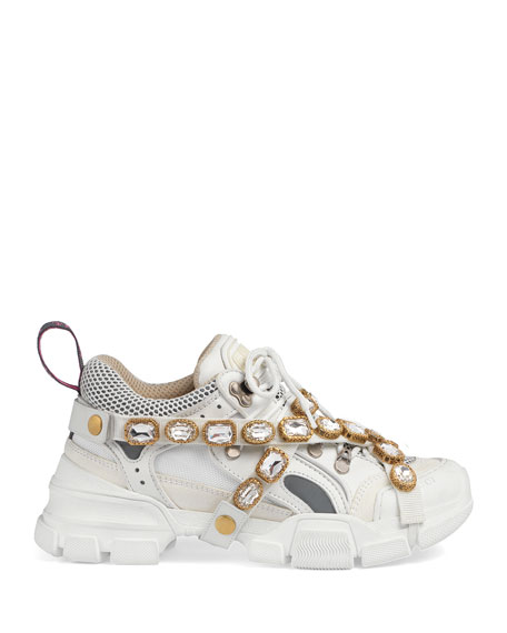 d54a973270b Image 2 of 5  Gucci Flashtrek Tonal Hiker Sneaker With Chain Strap