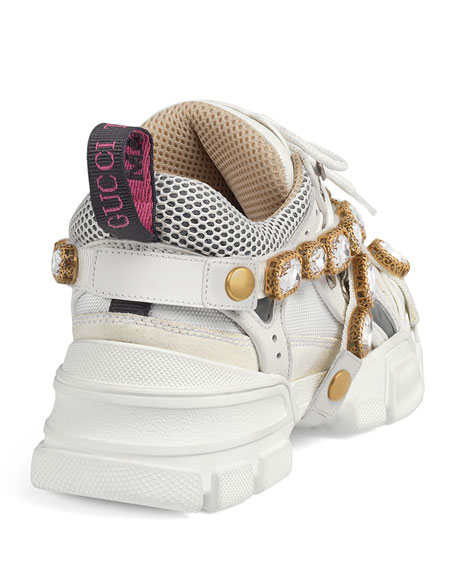 ade0866a302 Image 4 of 5  Gucci Flashtrek Tonal Hiker Sneaker With Chain Strap