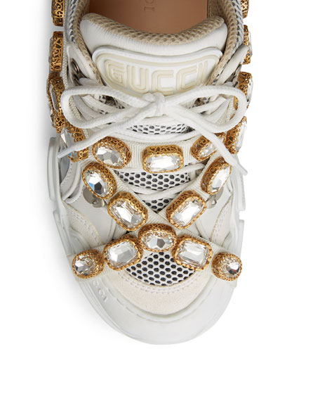 069925f6fac Image 5 of 5  Gucci Flashtrek Tonal Hiker Sneaker With Chain Strap
