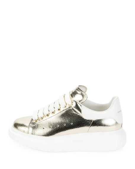 Metallic Lace-Up Platform Sneaker