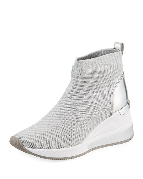 MICHAEL Michael Kors Skyler Knit High-Top Booties Sock