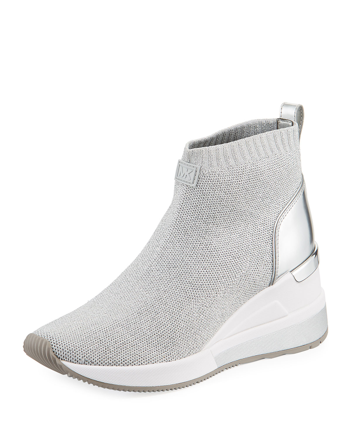 MICHAEL Michael Kors Skyler Knit High-Top Booties Sock Sneaker ... b11312e1b4465