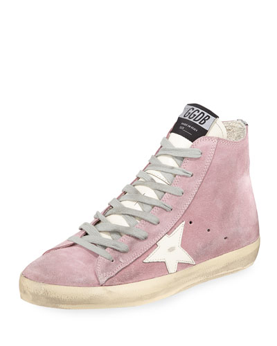 Francy Suede Star High-Top Sneakers