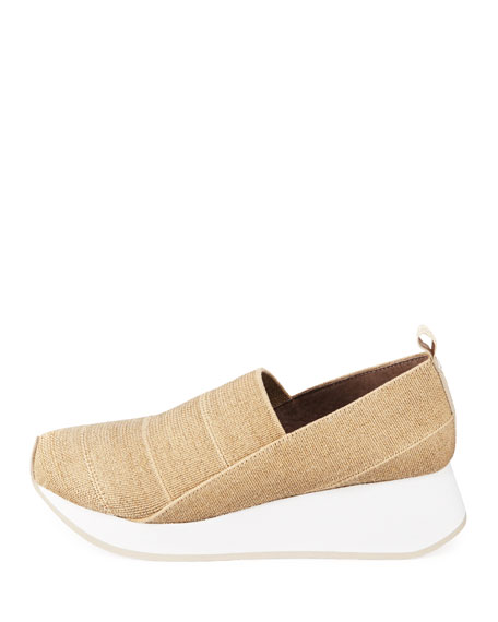 Piper Stretch Linen Slip-On Sneakers