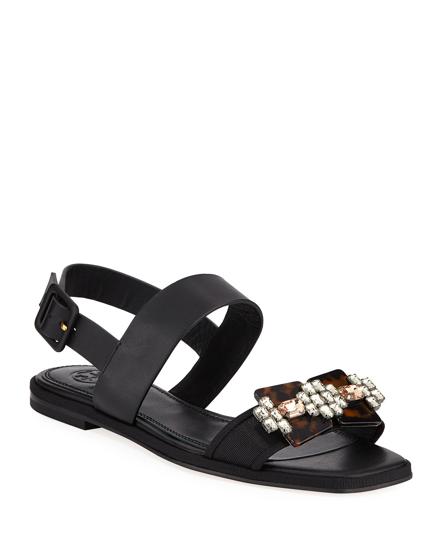 8983550a6 Tory Burch Delaney Embellished Leather Sandal