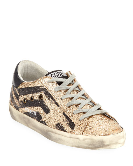 Superstar Glitter Fabric Low-Top Sneakers