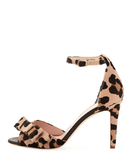 kate spade new york ismay leopard bow pumps