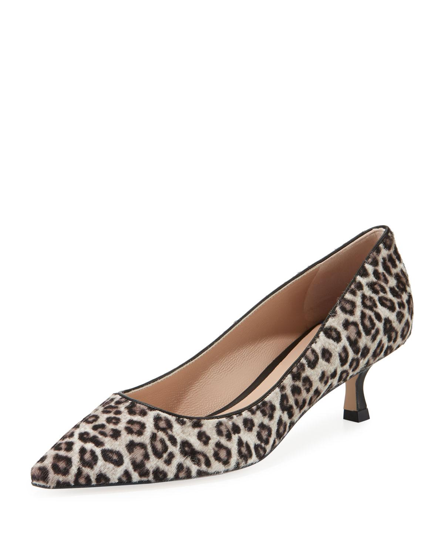 366c5d815cf Stuart Weitzman Tippi Low-Heel Leopard Pointed-Toe Pumps