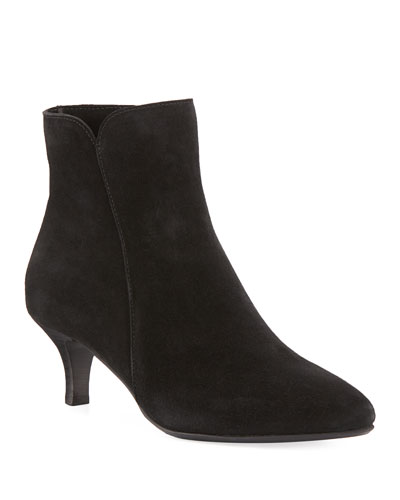 Dean Pointed Suede Booties