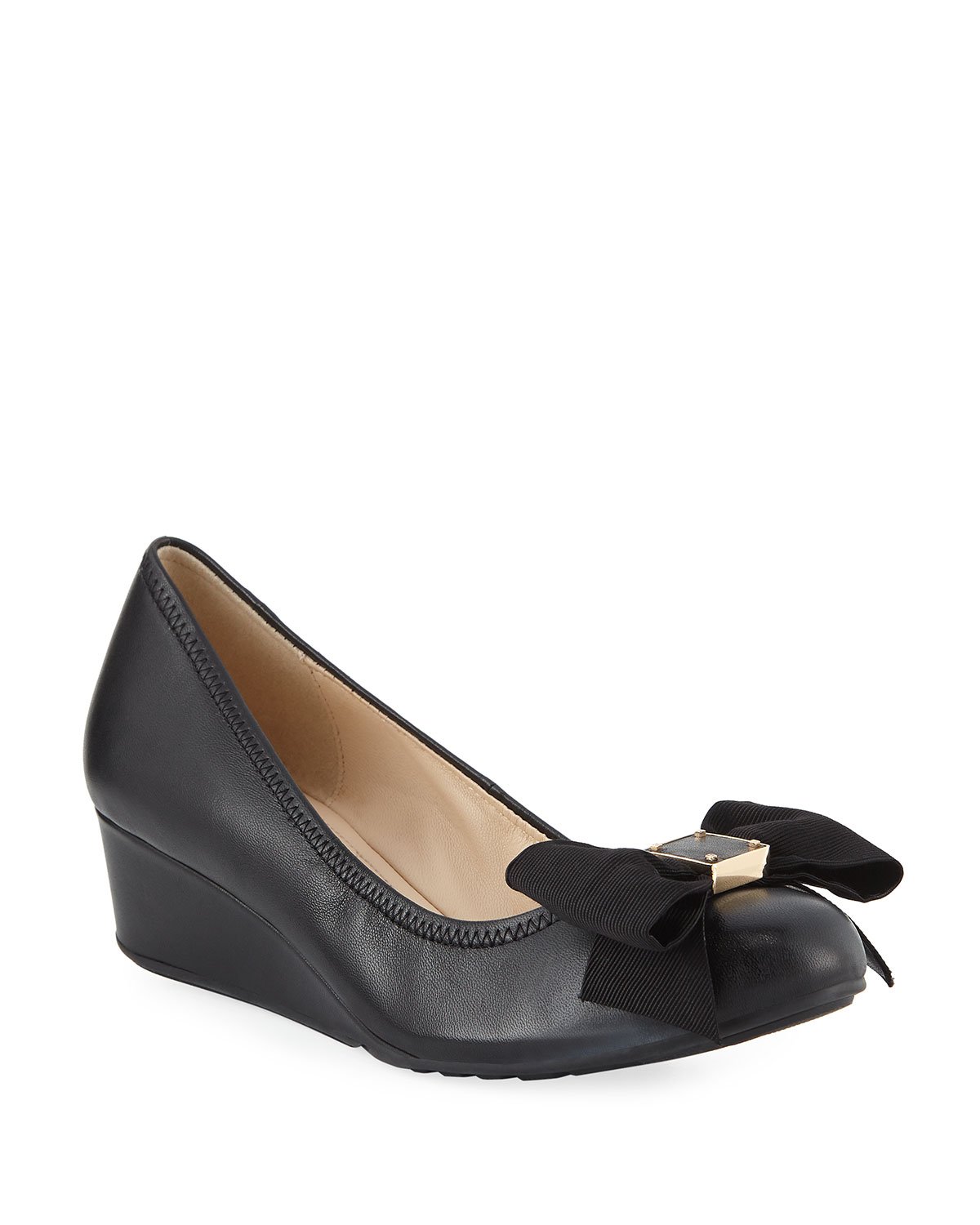 066a18df675 Cole Haan Tali Grand Soft Bow Wedge Pumps