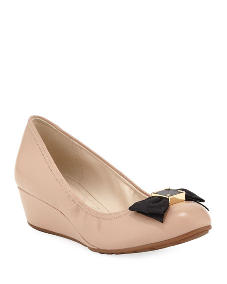 a3b3005b8a1 Image 1 of 3  Tali Grand Soft Bow Wedge Pumps