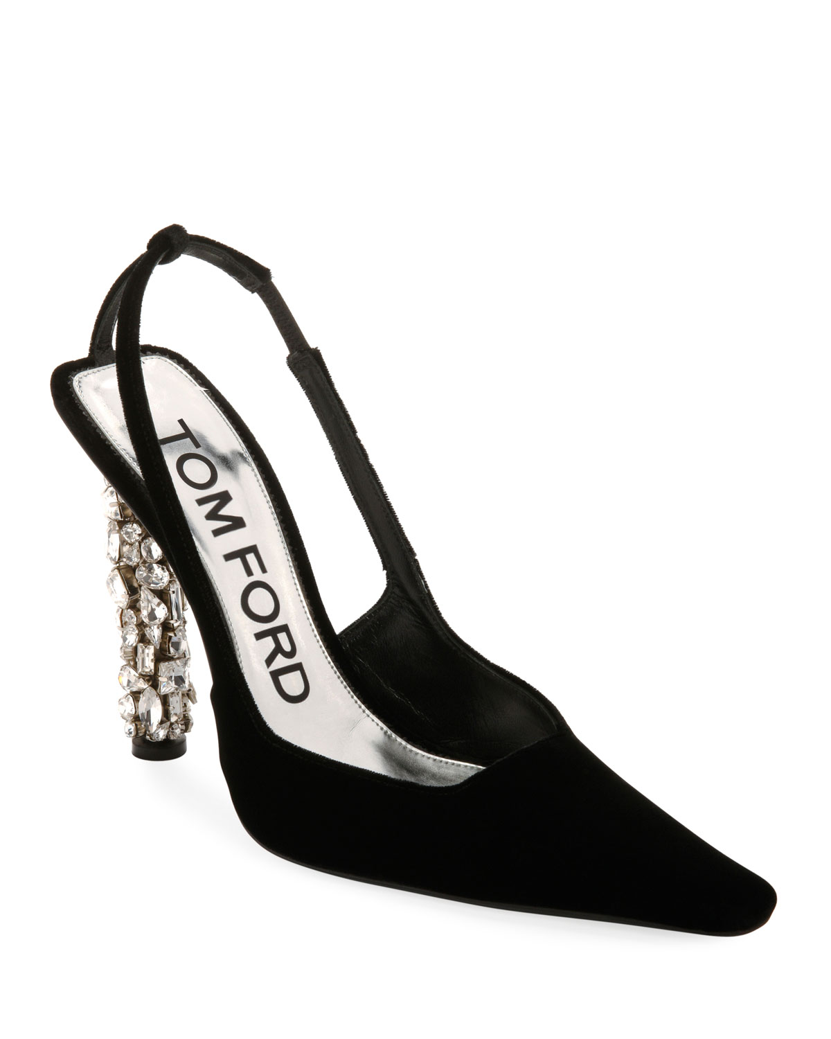 6f1a11a36df8 TOM FORD Velvet Crystal-Heel Pumps
