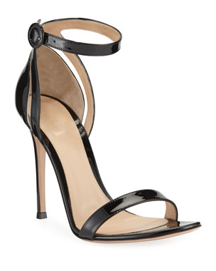 a6ed83dc5c68 Gianvito Rossi 105mm Patent d Orsay Sandals