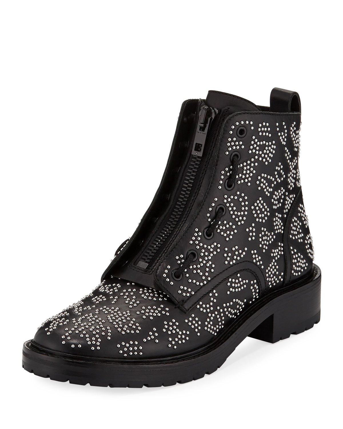 4d98504bf69 Cannon Studded Leather Zip Boots