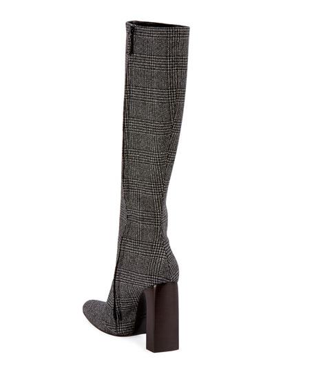 Balenciaga Prince de Galles Houndstooth Knee Boot