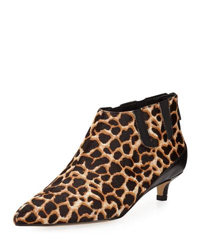 Ilex Leopard-Print Kitten-Heel Booties