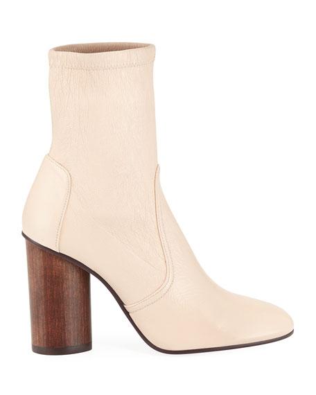 Margot 95mm Stretch-Leather Block-Heel Booties