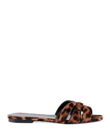 Tribute Flat Leopard-Print Slide Sandals