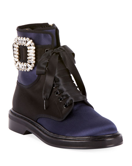 Viv Rangers Strass Lace-Up Booties