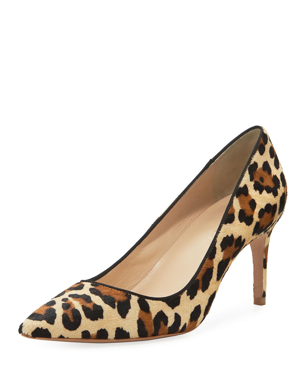 430daec79855 Sophia Webster Rio Leopard Animal-Print Mid-Heel Pumps | Neiman Marcus