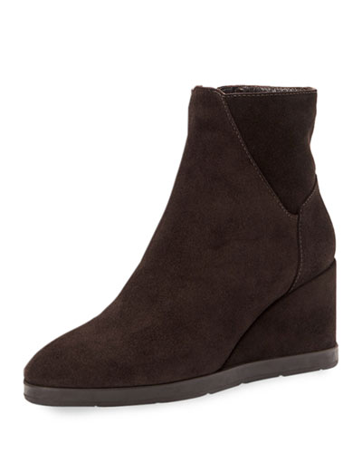 Judy Suede Wedge Booties