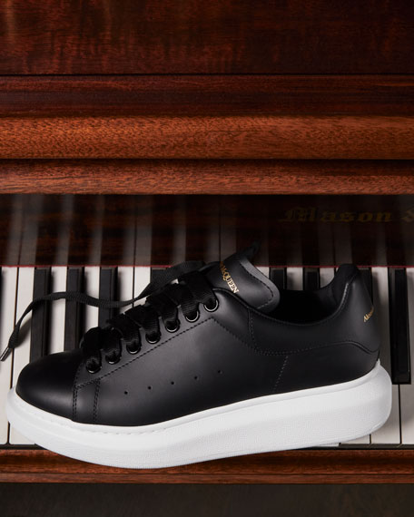 Image 2 of 4: Alexander McQueen Pelle Lace-Up Sneakers