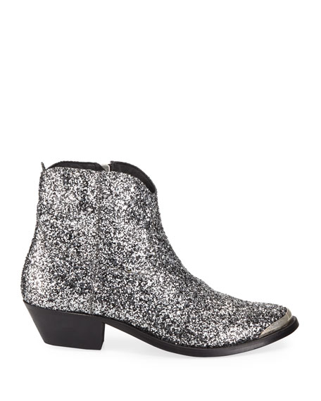 Young Glittered Western Boots
