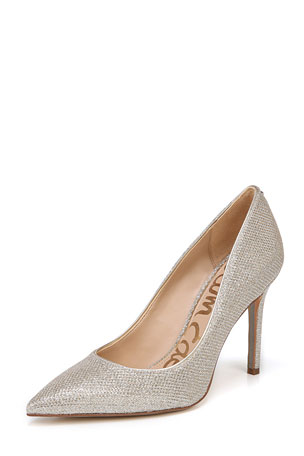 Sam Edelman Hazel Glam Mesh Pointed Pumps