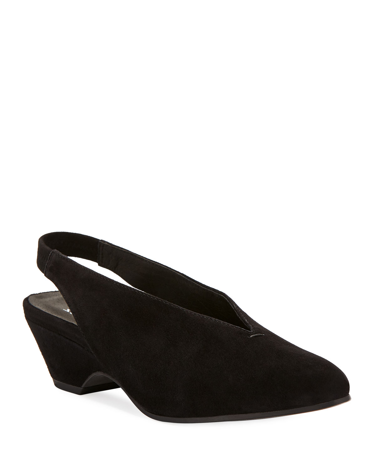 d3d070e346f Eileen Fisher Gatwick Suede Slingback Pumps