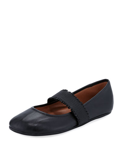 Gabby Leather Mary Jane Ballet Flats
