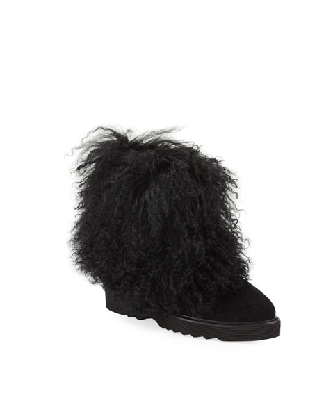 Aquatalia Kaegan Fur-Trim Booties