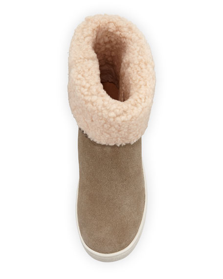 UGG Mika Curly Shearling Bootie Sneakers