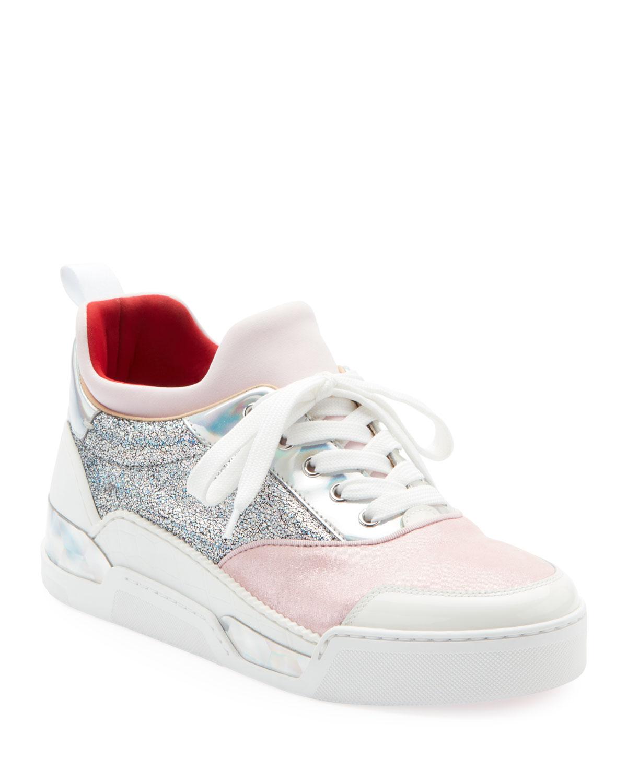 a6ee343bf83 Christian Louboutin Aurelien Women s Multimedia Low-Top Sneakers ...