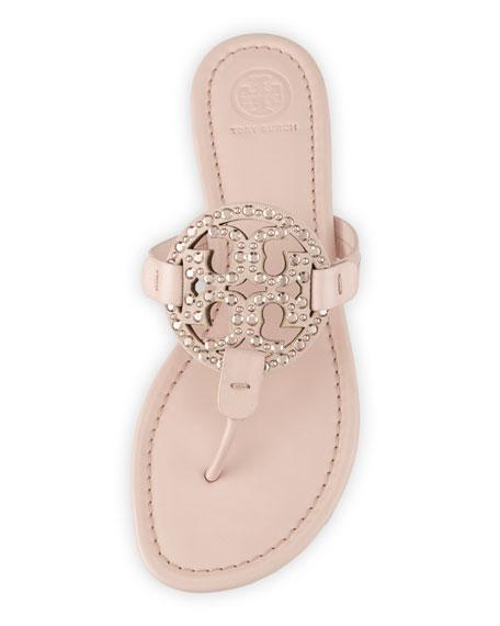 Miller Medallion Embellished Flat Sandal