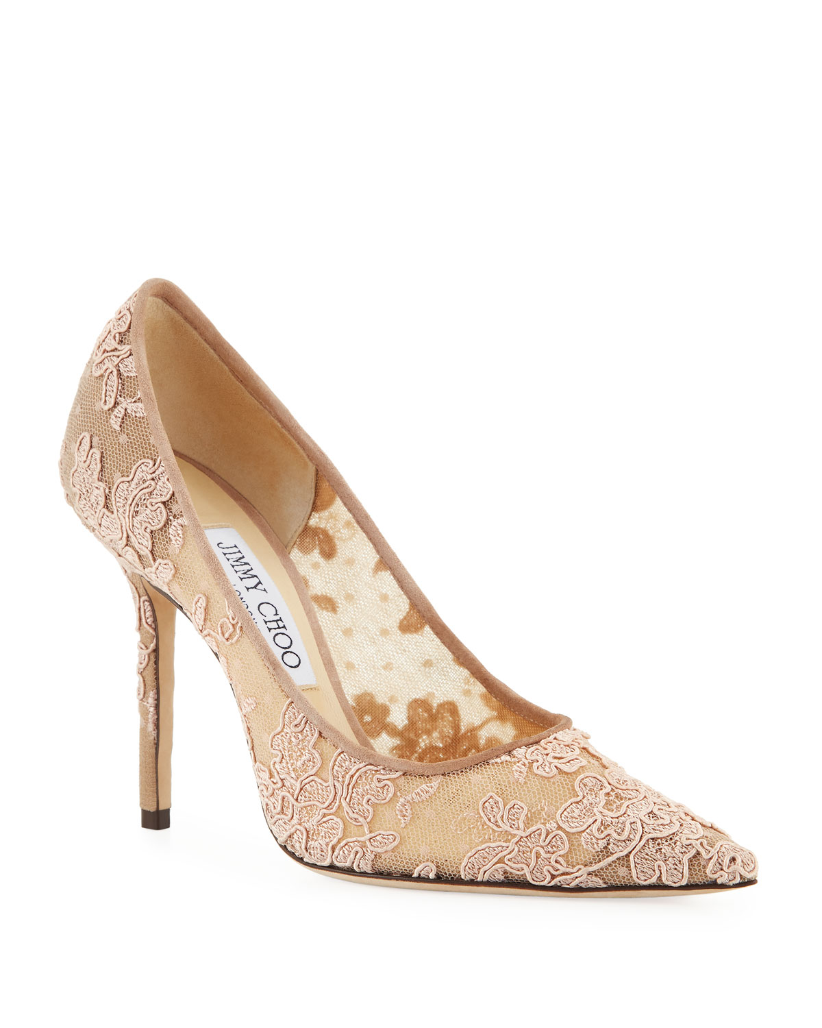 1d28f58c9483 Jimmy Choo Love Lace Pointed Pumps
