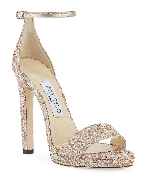 93b7c89de96 Jimmy Choo Misty Glitter Platform Sandals