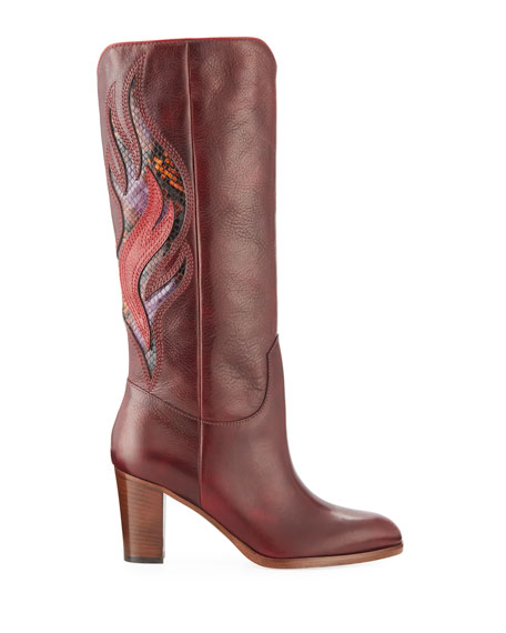 June Flame Knee Boots