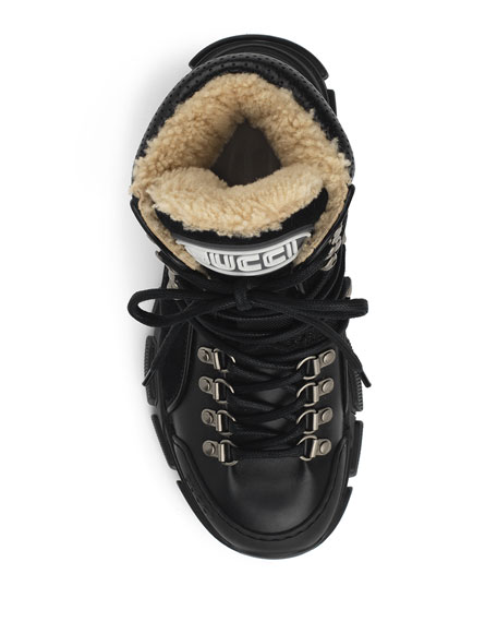 3252ee8abf7 Image 3 of 5  Gucci Flashtrek Shearling-Lined Hiker Boots
