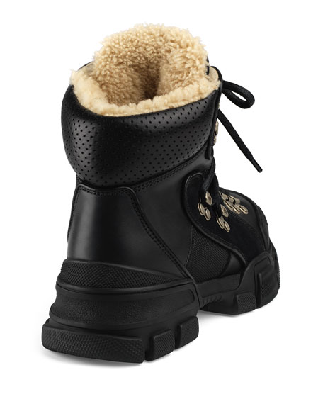 3e4555cbd6c Image 4 of 5  Gucci Flashtrek Shearling-Lined Hiker Boots