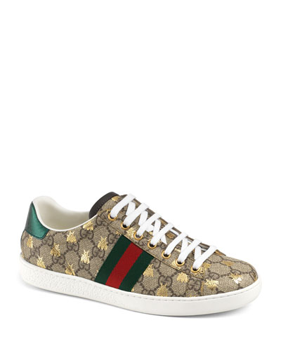 GG Canvas Bee Sneakers