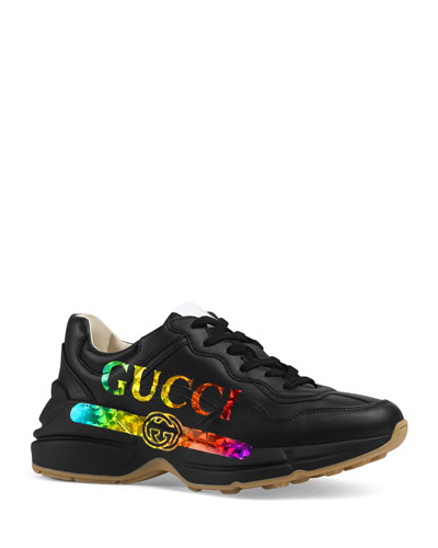Rhyton Rainbow Logo Sneakers