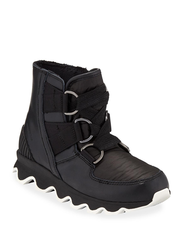 1e7f5a11fc Sorel Kinetic Short Waterproof Leather/Fabric Hiker Boots | Neiman ...