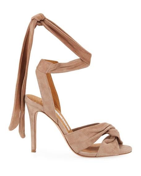 Calida Suede 100mm Sandals