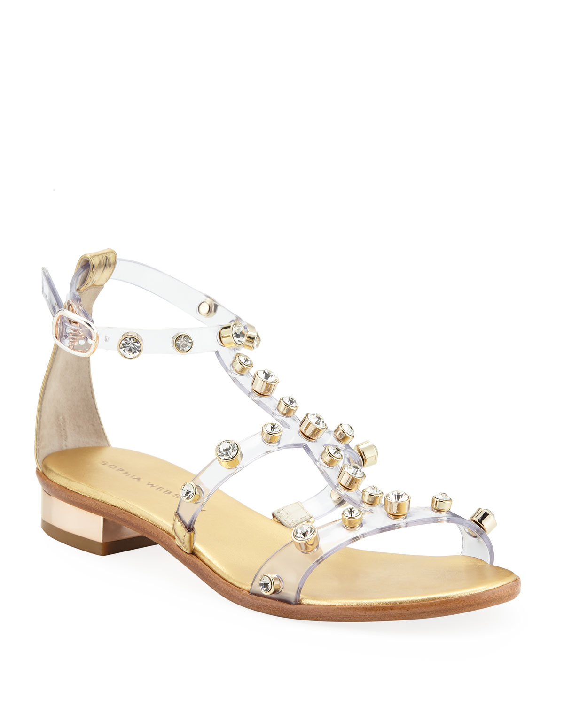 900ae2157 Sophia Webster Dina Studded Flat Sandals