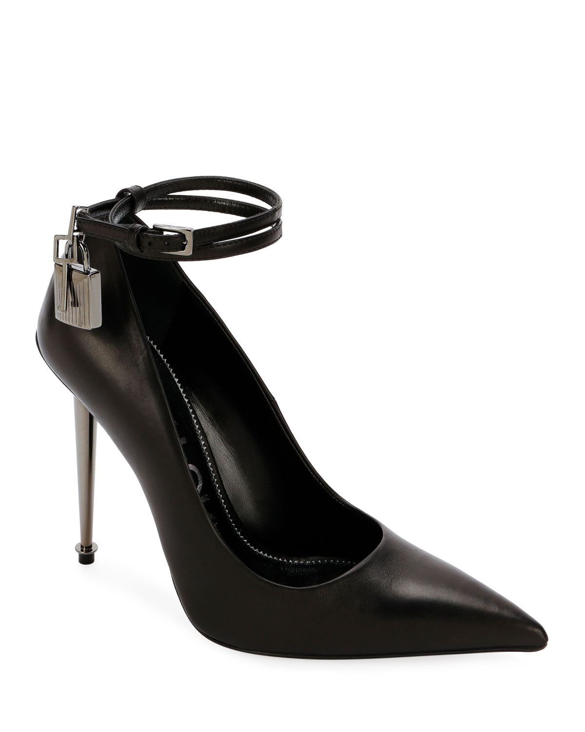 d515d2cb3f TOM FORD Leather Lock 105mm Pumps | Neiman Marcus