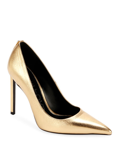 Laminated Leather 105mm Pumps