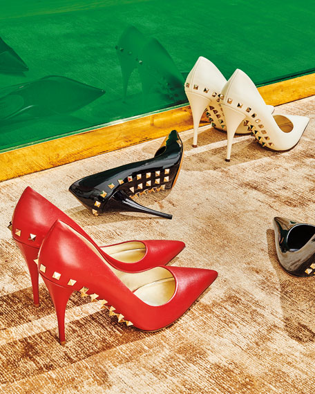 Jaw-Studs Pointed Pumps