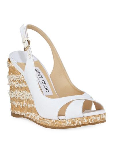 Amely Canvas Platform Wedge Sandals