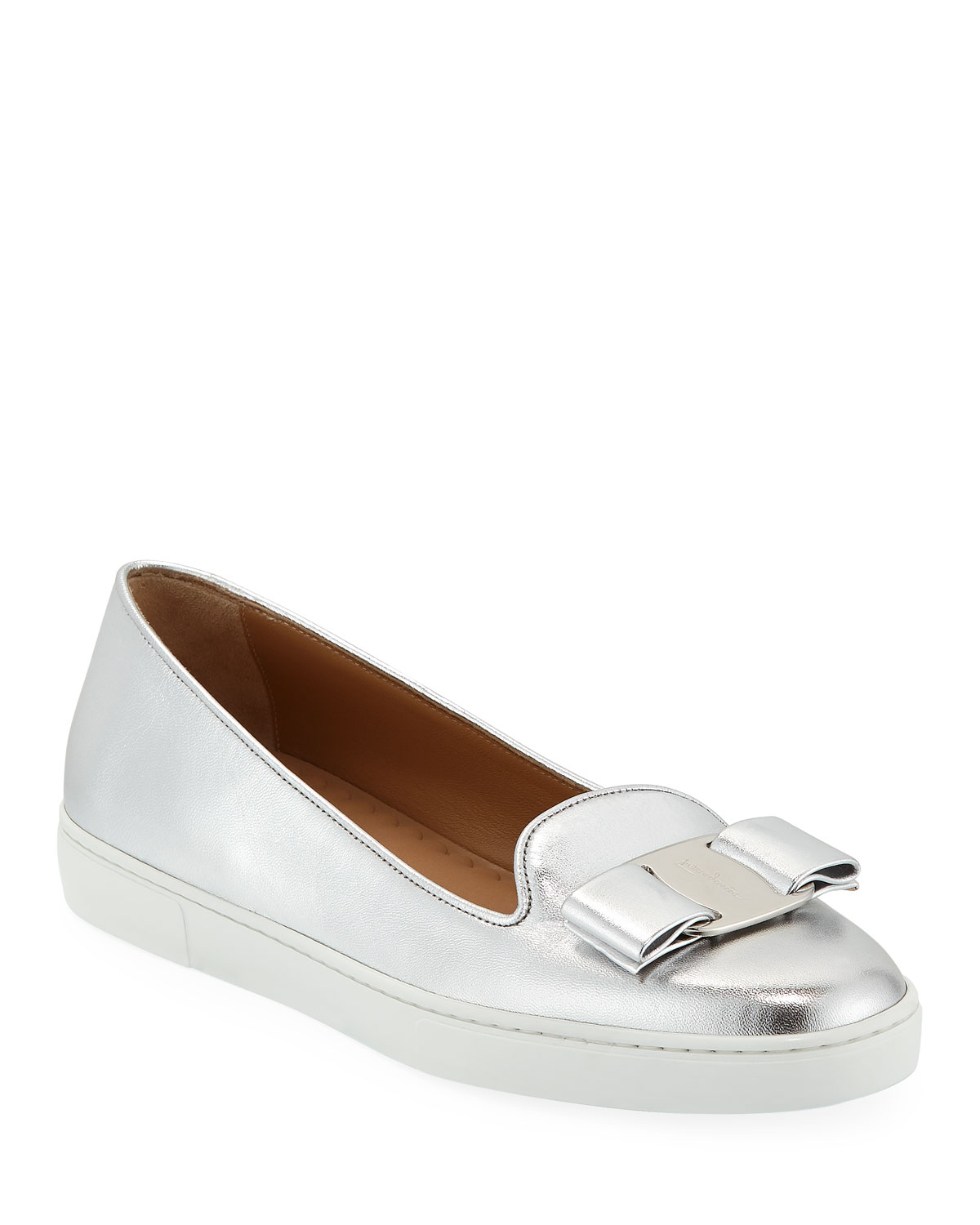 cfcc5e56b72ad Salvatore Ferragamo Novello Bow Slip-On Sneakers